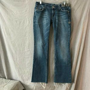 Miss Me Womens Blue Straight Denim Jeans Size 30